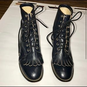 Justin Boots leather Kiltie Roper style 504